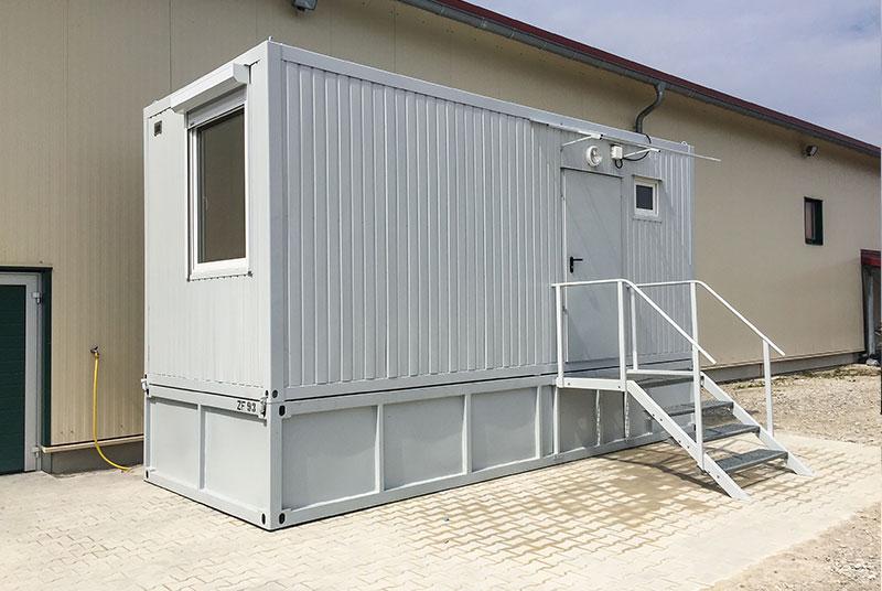 Wohncontainer W2 (14,7m²) (mit Hochbett, Esstisch, Bad und ...